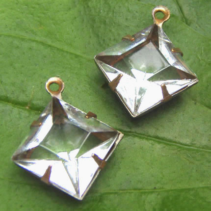 clear glass diamond shape jewels in my Etsy shop