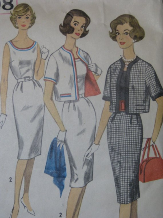 1960s wiggle dress vintage sewing pattern