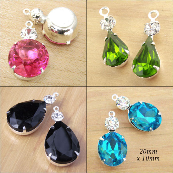 glass jewel set stones in many colors
