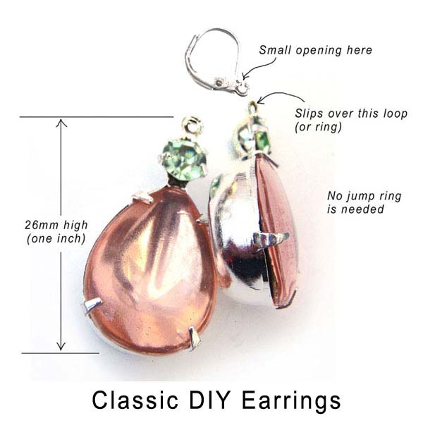 DIY earrings how to tutorial picture