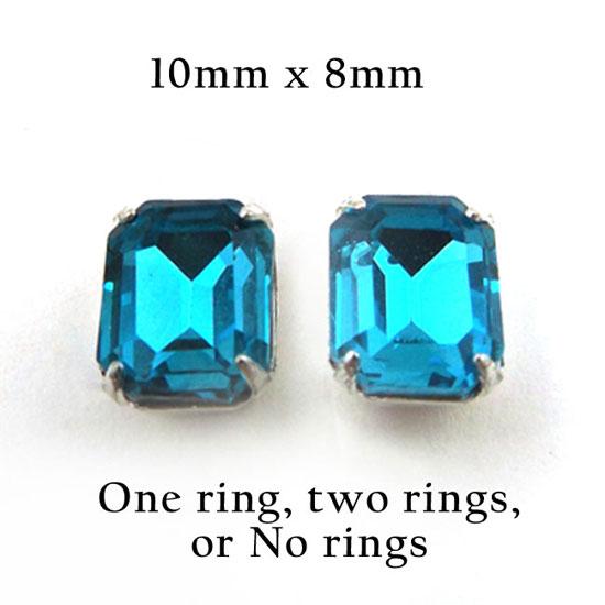 aqua stud earring jewels in my jewelry supplies shop