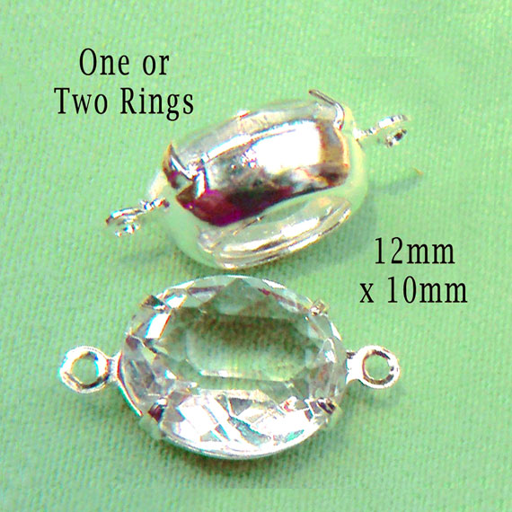 clear oval vintage glass jewels in my Etsy shop