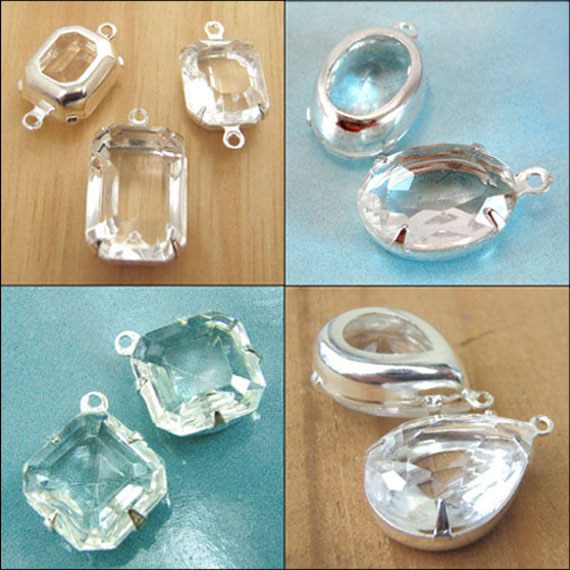 clear vintage glass beads available in my shop