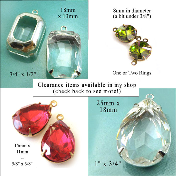 clearance sale items available in my weekendjewelry1.etsy.com shop