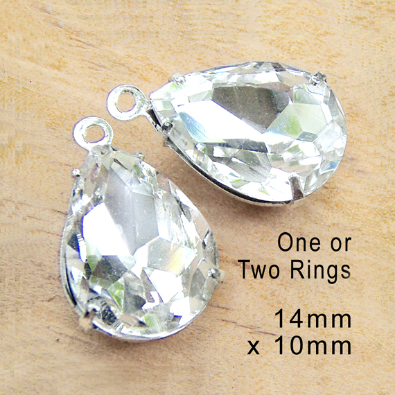 crystal rhinestone teardrop earrings or pendant jewels