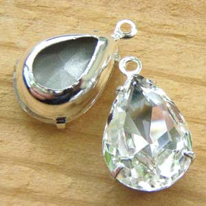 Crystal Rhinestone Pear Jewels