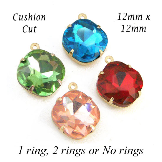 cushion cut glass beads