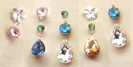 do it yourself earring designs - glass jewel earrings