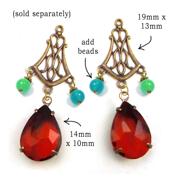 DIY earring design with colorful glass beads