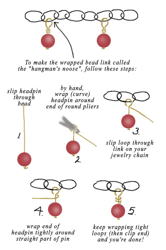 how to do a hangmans noose wire wrap