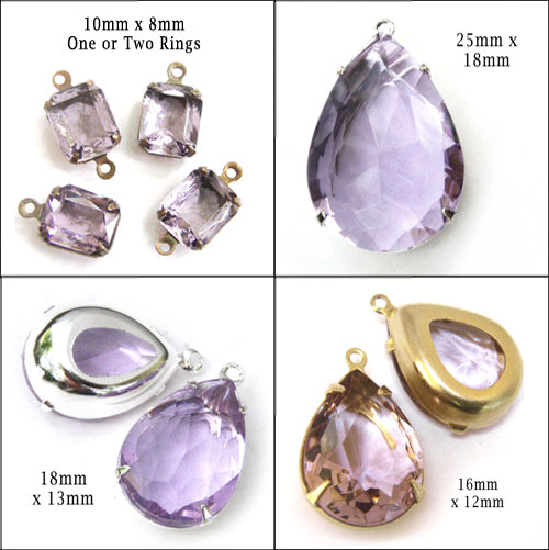 light amethyst purple sheer glass jewels... find them at weekendjewelry jewelry supplies shop at etsy