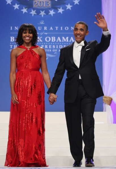 Michelle Obama in Jason Wu dress