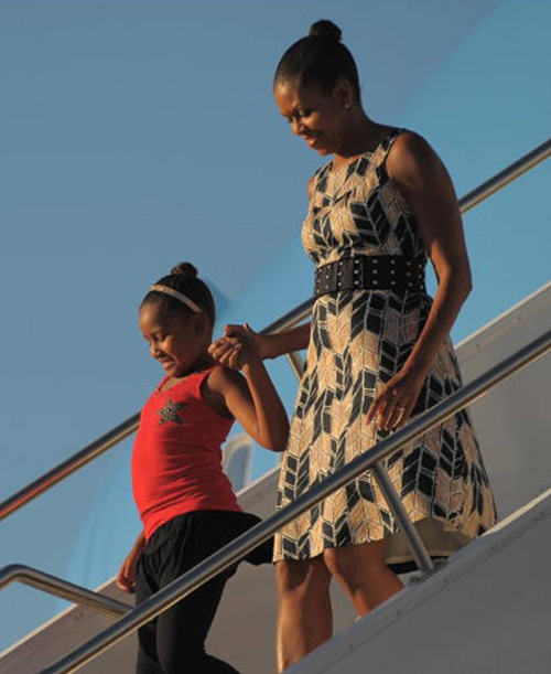 Michelle Obama in dress from Target