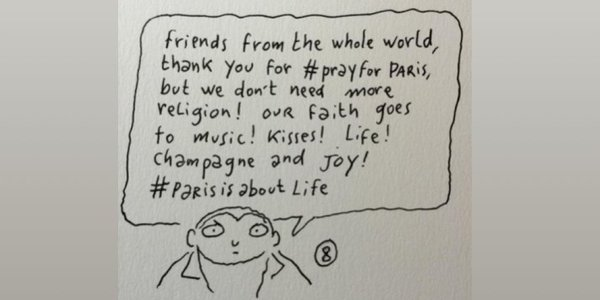 hashtag paris is about life.... beautiful cartoon
