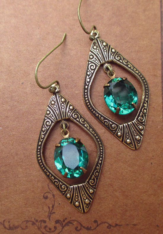 great gatsby vintage style earrings 171 vintage glass jewels