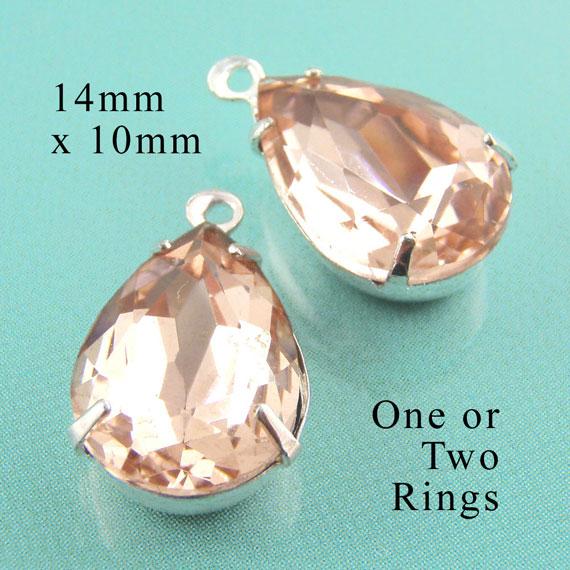 peach teardrop jewels in my Etsy shop