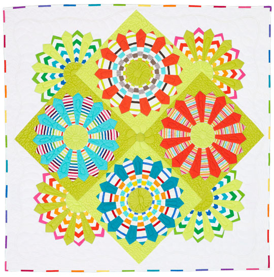 Victoria Findlay Wolfe quilt at American Patchwork Quilting