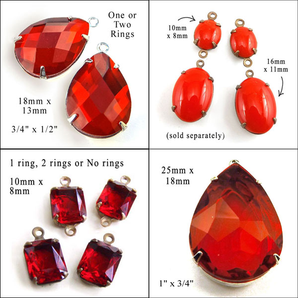 red glass jewels available in my shop