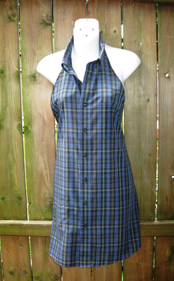 Refashioned Shirt Into Apron