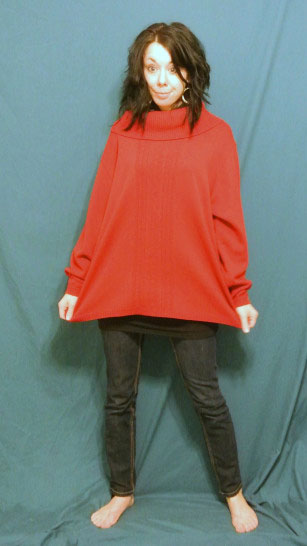 red sweater - the Before pic