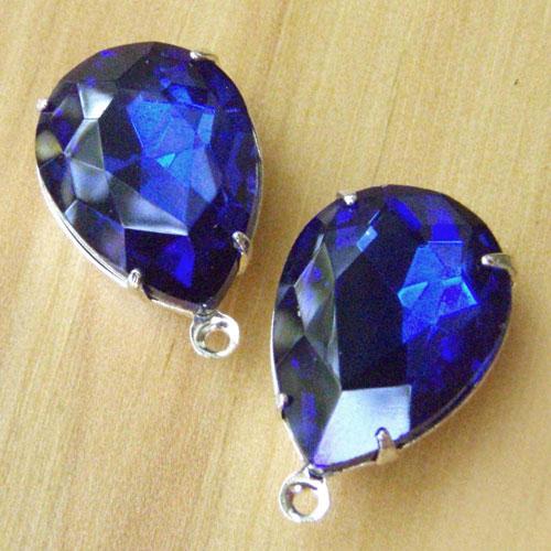 Sapphire Blue Vintage Rhinestone Jewels