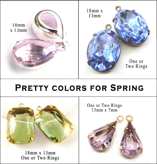 spring 2016 colors in glass jewels