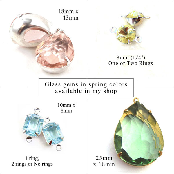 sheer glass gems in spring 2021 colors