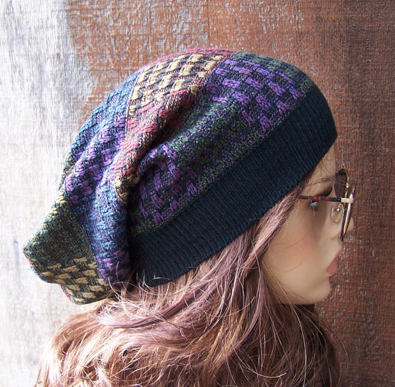 Upcycled winter hat - eco friendly fashion