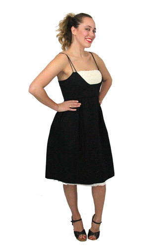 vintage black and white sundress from Reds Vintage Threads