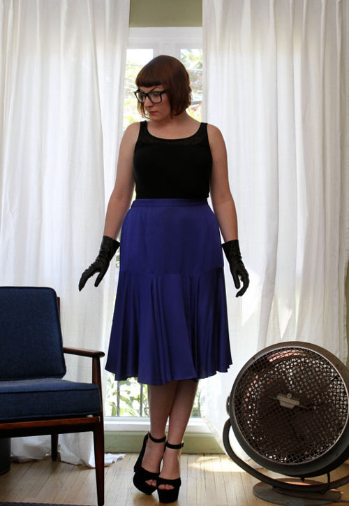 Vintage Blue Skirt  with full outfit