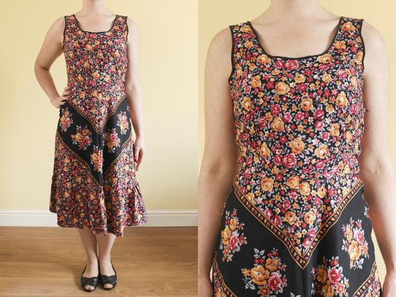 vintage boho summer dress from Venelle on Etsy