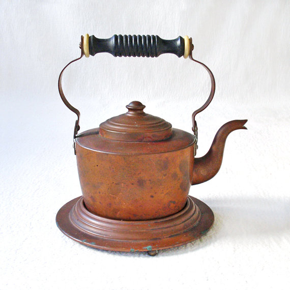 vintage copper teapot from Ratty and Catty
