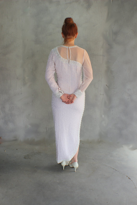 Vintage White Gown for Wedding or Party